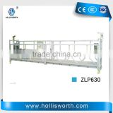 Galvanized /Aluminum zlp 630 suspended platform for curtain wall Installation
