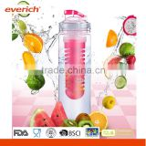 Recycled rust-proof weight empty fruit infuser water bottle bpa free                                                                         Quality Choice