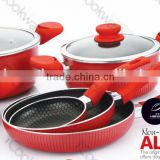 silk screen aluminium non-stick cookware Set