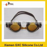 Custom funny silicone swimming goggles wholesale