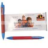 Free Samples Ballpoint Promotional Use Calendar Engraved Logo both sides printed Banner Pen