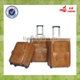 High-end Pu Leather Light Brown Colors Trolley Luggage Scooter