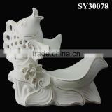 Jump fish porcelain animal decoration
