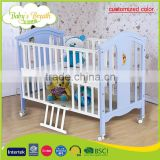 WBC-05A customized color safe bamboo baby wooden convertible crib dimensions