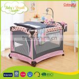 BP-05A colourful animal style baby cribs and playpen top covers, baby playpen toy bar                                                                         Quality Choice