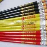 2015 natural wood pencils with eraser can print logo                                                                         Quality Choice