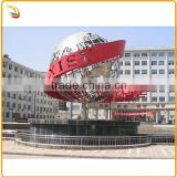Stainless Steel Large Hollow Tellurion Sphere Sculpture For School Decoration