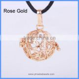 Star Shape Hollow Copper Chime Magic Box Cage Mom Baby Belly Bell Harmony Pregnancy Necklace Pendant BAC-M014