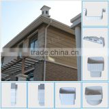 List of plastic products Guangzhou Wanael rectangular 5.2K UPVC roof rainwater PVC Gutter Fittings