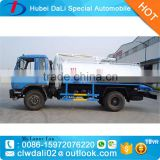 2016 new Hot sale 8000L Dongfeng 4*2 vacuum pump fecal suction tanker truck for sale