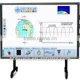 Movable IR digital interactive magnetic board, finger touch interactive whiteboard with projector