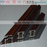 doors and windows aluminium profile material with veneer or pvc / wooden alu-alloy door-window profiles