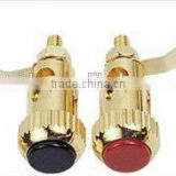 brass material gold plating bindig post speaker terminal material
