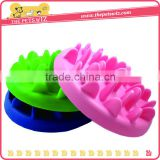 High Quality Silicone Material Colorful Slow Feed Dog Bowl Pet Feeder