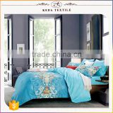 2016 Hot new imports home decor king queen full twin 300TC reactive dye 100% cotton bedsheet set