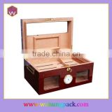 Custom Made Wooden Craft Packaging Box For Cigar Humidor Popular For Men Wholesale