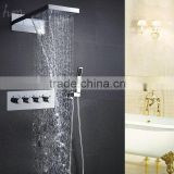 Mixer cold and hot bathroom shower embedded box square rain SPA shower head set hand shower bath accessories water faucet kit