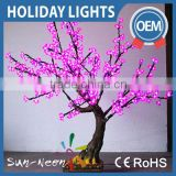 Hot sell high simulation led small home artificial flower tree bonsai