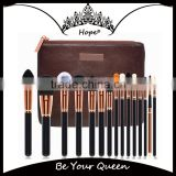 New Arrival Top Grade 15pcs Animal Hair Makeup Brush Set                                                                         Quality Choice