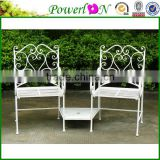 Wholesale Unique New Love Seat Design Vintage Wrought Iron Patio Garden Bench I21 TS05 X11B PL08-34283