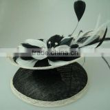 Fascinator Clubwear Wedding Party Mesh Bow Bowknot Mini Hat Feather Hair Clip