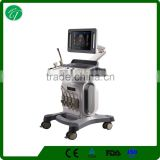 Pregnancy baby checking color doppler ultrasound price, Large screen trolley ultrsound for big hospitals
