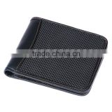 Factory Hot Supply Luxury RFID Security Blocking Real Carbon Fiber Wallet With Genuine Leather