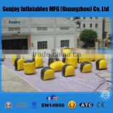 Factory price pvc inflatable paintball set 20-68 paintball Bunkers Inflatables