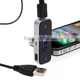 New Electronic Car MP3 Player 3.5mm In-car FM Transmitter For iPhone /iPod Touch/ipad Mini Wireless Transmitter