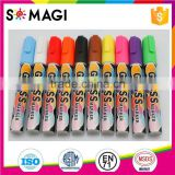 Reversible Bullet And Chisel Tip and Dry-Erase & Wet-Erase chalk marker with rich Colors