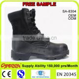 Hot sale China factory leather black lightweight cheap military army boots shoes manufacturer SA-8304