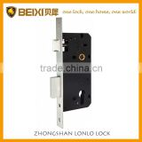 High security euro profile door mortise lock body