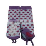 GSBT-09 Alibaba hot sale socks with rubber soles cozy tube thermal cute animal socks baby