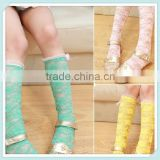 Candy Color Girls Lace Socks,Bow Long Socks,Summer Leg Warmers,Fashion Clothes,Children Meias