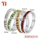 gold jewellery dubai gold ring with natural stone crystal avenue wholesale jewelry 4 seasons party gift womens bands