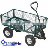 4 wheel wheelbarrow kraftwelle tool trolley