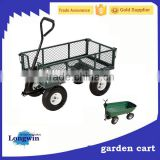 Wheelbarrow wagon folding Beach Cart Steel Mesh Garden Cart