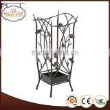 Hot sale wrought iron black umbrella stand