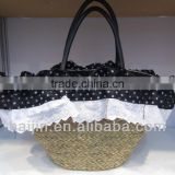 natural seagrass handmade beach bag