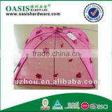 high quality unfoldable food cover,fixed food cover with flower