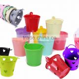 Multi-Colour Mini Metal Plain / Heart Wedding Party Christening Favour Gift Pails Tin Buckets