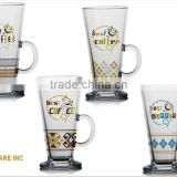 9oz 10OZ Irish glass coffee mug drinking glass cup set
