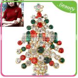 Alloy Corsage Brooch Christmas Tree Brooch Pin