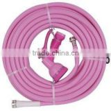 Flex-Tube PVC Duct Hose, pink, 14mm*10mm For Use With Fume, Dust Water Yarn Hose For Water Yarn Hose