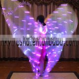 Two colors women belly dance costume led isis wings M0029-L1