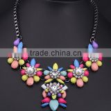 Fashion multicolor resin pendant cheap necklace jewelry hot sale