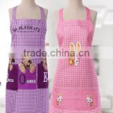 Advertising promotional gifts small white rabbit kitchen apron custom anti - foupler peach skin ad custom gift aprons