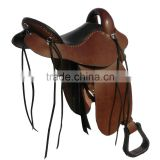 Leather Western Style Horse Saddle