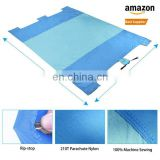 Waterproof Parachute Nylon + Pu coating picnic beach blanket mat with LOGO Fashion compact outdoor custom picnic blanket