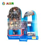 Hot sell air jumping castle /inflatable bouncy castle banners / kids toys avengers air castle for sale